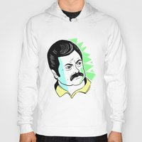 swanson Hoodies featuring Ron Swanson.  by The Half Guava