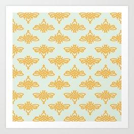 Celtic Bees Art Print