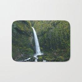 Waterfall.Oregon.Moss.Green.Forest.Enchanted.PNW. Bath Mat