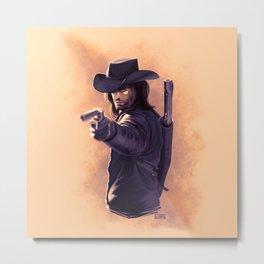 Gunslinger Metal Print