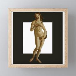 venus botticelli black modern Framed Mini Art Print