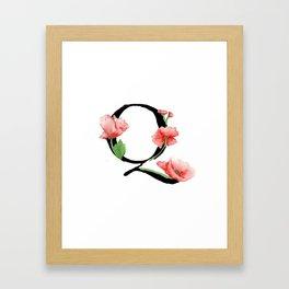 """""""Q"""" Framed Art Print"""