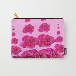PINK SURREAL TOWERS OF  FUCHSIA PINK ROSES Carry-All Pouch
