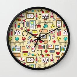 """Proud To Be A Nurse"" Pattern Wall Clock"