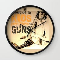 jessica lange Wall Clocks featuring JESSICA by ARTito