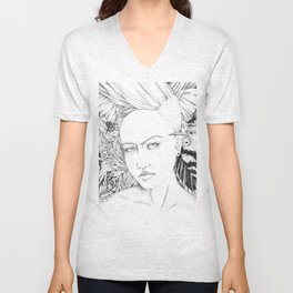 Pomegranate Frida Unisex V-Neck