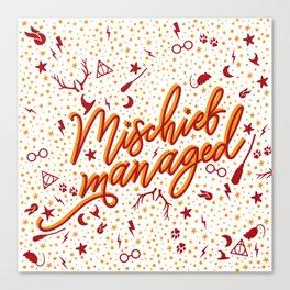 Mischief Managed v2 Canvas Print