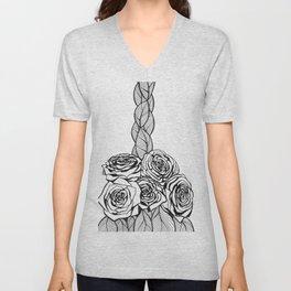 Bunch of Roses Unisex V-Neck
