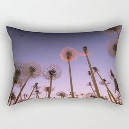 Dandelion field Rectangular Pillow
