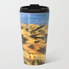 An intense rainbow in the painted hills Metal Travel Mug