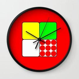 Tour de France Jerseys 3 Red Wall Clock