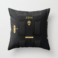 221b Throw Pillows featuring 221b Baker Street by Andrian Kembara