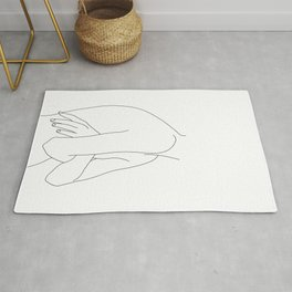 Figure line drawing illustration - Jem Rug