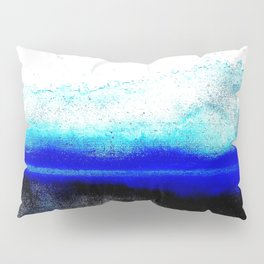Abstract sunset blue Pillow Sham
