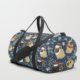 Christmas Pugs Duffle Bag