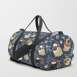 Christmas Pugs Duffle Bag