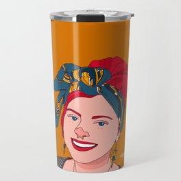 Red Head Girl Travel Mug