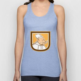 Boar Chef Cook Shield Cartoon Unisex Tank Top