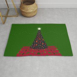 Christmas Tree with Glowing Star Rug