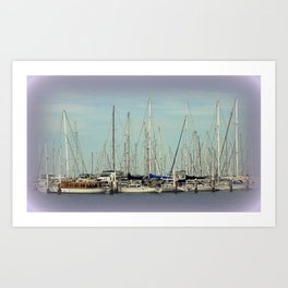 Flotilla of Yachts  Art Print