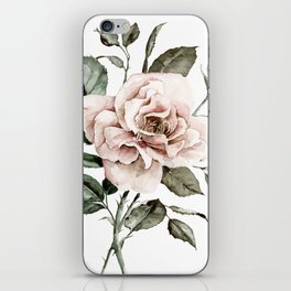 Faded Pink Rose iPhone Skin