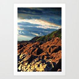 clouds over saunton Art Print