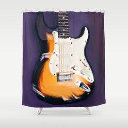 Stringed Instrument Shower Curtain