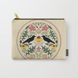 Crows, Wild Roses, Thistles And Sunflowers Carry-All Pouch