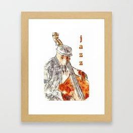 Jazz Bassist Framed Art Print