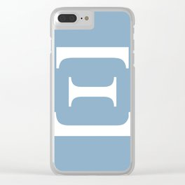 Greek letter Xi sign on placid blue background Clear iPhone Case