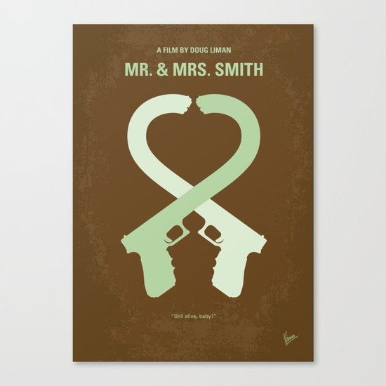 No187 My Mr & Mrs. Smith minimal movie poster Canvas Print