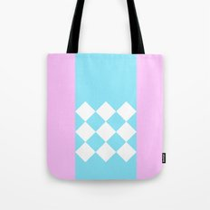 Pink and Blue Checkered Tote Bag