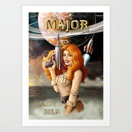 Major Chronicles Lady Silk Art Print