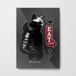 Hungry Cat Metal Print