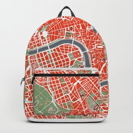 Rome city map classic Backpack