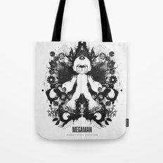 Megaman Geek Ink Blot Test Tote Bag