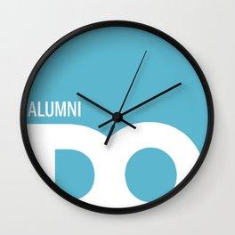 Cropped D.O. Alumni Logo Wall Clock