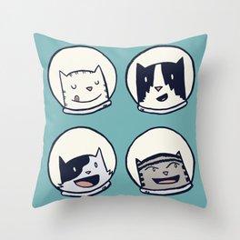 CatStronauts Team Heads Throw Pillow