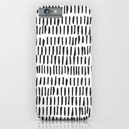 Black & White Lines  iPhone Case