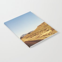 Golden Rolling Hills Road Notebook