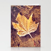 fitzgerald Stationery Cards featuring Autumn Frost by Elke Meister