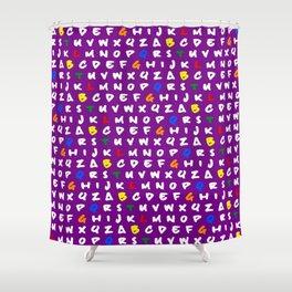 Abc's purple! Shower Curtain