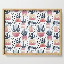 Cactus & Monstera Serving Tray