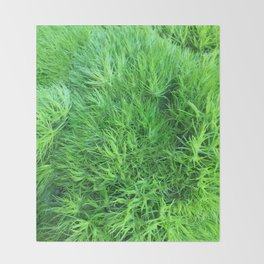 Dianthus Green Trick Throw Blanket