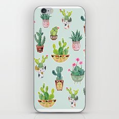 Cactus Pot Personalities iPhone & iPod Skin