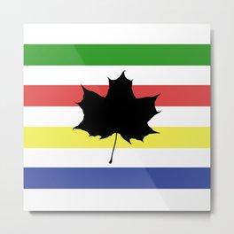 Metis Maple Leaf Metal Print
