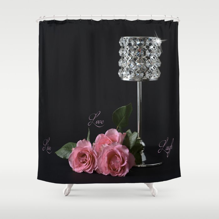 Live Love Laugh Shower Curtain By Rinadevine