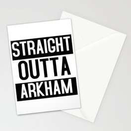 Straight Outta Arkham Stationery Cards