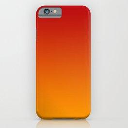 Red Orange Gradient iPhone Case