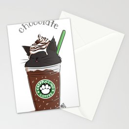 Chocolate CATpuccino Stationery Cards